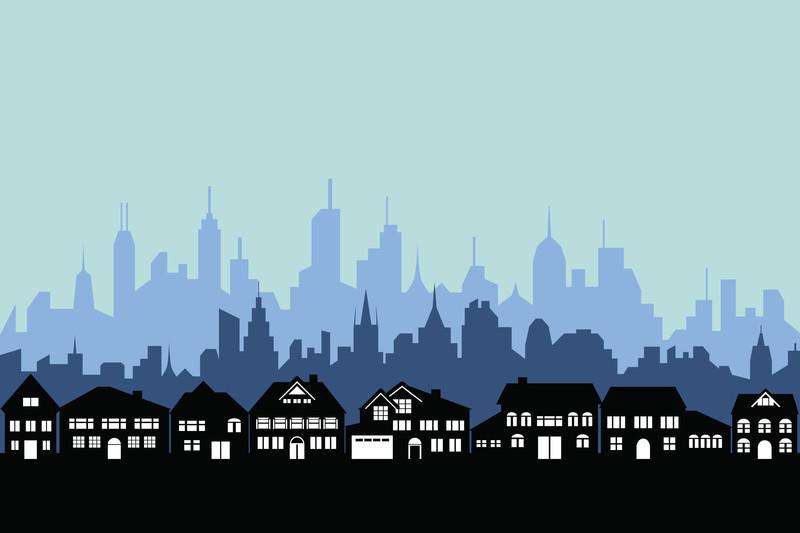 city - suburbs